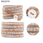 KELITCH bracelet <b>Jewelry</b> travel bracelet Bohemian Seed Beads Stone Mixed <b>Handmade</b> Strand Beach Bracelets For Summer Travel Gifts