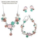 Neoglory MADE WITH SWAROVSKI ELEMENTS Crystals Two Colors African Beads Wedding <b>Jewelry</b> Sets For Women 2018 JS1