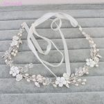 Jonnafe Freshwater Pearls Bridal Headband Hair Vine Gold Leaf <b>Wedding</b> Tiara Hair Accessories Women <b>Jewelry</b> Headpiece