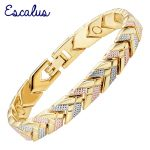 Escalus 2018 Trendy Arrow Magnetic Bracelet For Women 3-Tone Gold Color Bangle <b>Fashion</b> Charm New Bracelets For Girls <b>Jewelry</b>