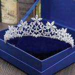 Gorgeous Vintage Clear Cubic Zircon <b>Wedding</b> Tiara CZ Bridal Queen Princess Pageant Royal Party Crown Women <b>Jewelry</b> Bridesmaids