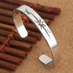 Solid <b>Silver</b> 925 Eagle & Sun Cuff Bangle Bracelet Men Women Vintage Indian Style Handmade Real 925 <b>Sterling</b> <b>Silver</b> Mens <b>Jewelry</b>