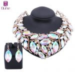 African Beads <b>Jewelry</b> Sets For Women <b>Accessories</b> Wedding Bridal AB Crystal Pendant Statement Necklace Earring <b>Jewelry</b> Set