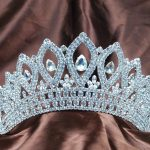 Vintage Silver Tiaras Diadem 3.5″ Clear Rhinestones Crystal Bridal <b>Wedding</b> Crowns Pageant Party Headband Hair <b>Jewelry</b>