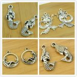 mermaid/fairy shape alloy DIY charm pendant jewerly accessories findings <b>antique</b> silver bracelet necklace chain free shipping
