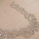 wholesale high end rhinestone accessories for bridal neckline dress <b>supplies</b>, beaded applique for wedding <b>jewelry</b> design RAE0117