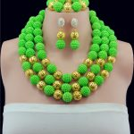<b>Handmade</b> Women Costume Nigerian Wedding Balls Bridal <b>Jewelry</b> Set African Beads <b>Jewelry</b> Set 2016 New Free Shipping