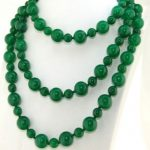 Fashion green natural stone round chalcedony 8-12mm chalcedony vintage jades diy long chain necklace <b>jewelry</b> <b>making</b> 50inch BV352