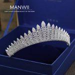 MANWII New micro insert AAA zircon Tiaras and Crowns Bride <b>Wedding</b> tiara <b>Wedding</b> hair accessories for women hair <b>jewelry</b> HD2059