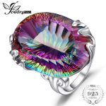 Brand New Huge 42ct Genuine Rainbow Fire Mystic Topaz Solid 925 <b>Sterling</b> <b>Silver</b> Ring Vintage Fashion Accessories <b>Jewelry</b> 2018