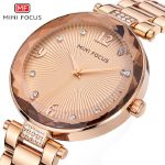 womens rose gold stainless steel wristwatches quartz diamond woman watches gold <b>silver</b> waterproof MINI FOCUS brand ladies clocks