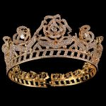 Bridal Tiaras and Crowns Full Crystal Rhinestone Gold Color Rose flower <b>Wedding</b> Hair Crown for Women Hair <b>Jewelry</b> Accessories