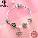 925 <b>Sterling</b> <b>Silver</b> Bracelets Fashion Bee Crystal Tree of Life Femme Bracelets Bangles for Women Authentic <b>Silver</b> <b>Jewelry</b> ECB805