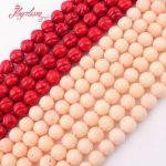 8mm Round Carved Red Coral Beads Natural Stone Beads For DIY Necklace Bracelets Earring Woman <b>Jewelry</b> <b>Making</b> 15″ Free Shipping