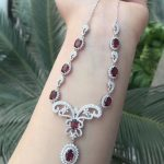 Natural red garnet gem Pendant Necklace Natural gemstone Necklace 925 sliver trendy Butterfly Dragonfly women wedding <b>Jewelry</b>