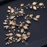 Jonnafe <b>Handmade</b> Gold Leaf Hair Vine For Bride Pearls Bridal Hair <b>Jewelry</b> Wedding Hair Piece Ornament Women Headpiece