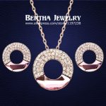 Luxury Elegant Exquisite Gold Color Cystal <b>Jewelry</b> Sets Earrings <b>Necklaces</b> For Women Made With Swarovski Elements Top Quality