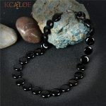 KCALOE Black Onyx <b>Fashion</b> Necklaces For Women 2017 New <b>Jewelry</b> Round Design Handmade Natural Stone Vintage Necklace Colar