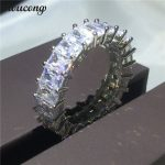 choucong <b>Wedding</b> Band Ring for women Full princess cut Diamonique cz 925 Sterling silver Engagement Rings Bridal fashion <b>jewelry</b>