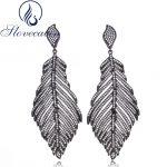 Slovecabin Real 100% 925 Sterling <b>Silver</b> Black Angel Wings Drop <b>Earrings</b> For Women Engagement Vintage Sterling-<b>Silver</b>-Jewelry