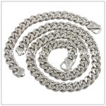 60cm/22cm*15mm Classic 316L Stainless Steel Fashion <b>Silver</b> Chain Neklaces&<b>Bracelet</b> Jewelry Set For Men Boy,High Quality