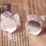 100pcs/Lot Cabochon 15mm Crown Lace ring blank with Cameo Tray,Silver Plated Ring setting,<b>Handmade</b> DIY Zakka <b>jewelry</b> Finding