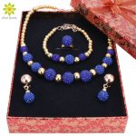 High Quality Gold Color <b>Jewelry</b> Set Nigerian Wedding African Beads Costume <b>Jewelry</b> Bracelet Earrings <b>Necklace</b> Ring+Gift Boxes