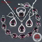 Brown CZ <b>Silver</b> 925 Jewelry Wedding Jewelry Sets For Women <b>Bracelet</b> Necklace & Earrings Ring Pendants Sets Jewelry Gift Box