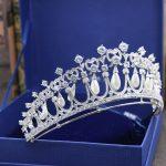 Europen Style Full AAA Cubic Zirconia Princess Crown Micro Inlays Zircon CZ Brides Tiaras Coronet for <b>Wedding</b> Prom Hair <b>Jewelry</b>