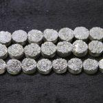 Dinner <b>Jewelry</b> Gold Titanium Druzy Necklace Stone Coin Beads Pendants Fashion Drusy Quartz Flat Round Beads <b>Jewelry</b> <b>Making</b>