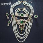 OUMEILY Fashion <b>Jewelry</b> Set For Women Bridesmaid 4 Layers Luxury Imitation Crystal Zircon Wedding Bridal Costume Turkish <b>Jewelry</b>