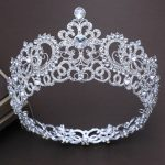 Bridal Tiaras and Crowns Silver Hair Crown Full Crystal Rhinestone Large Queen Crown for Women <b>Wedding</b> Hair <b>Jewelry</b> Accessories