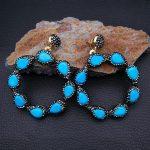 Blue Stone Macarsite <b>Earrings</b>