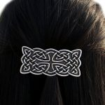 Vintage Irish Celtics Knots French Barrette <b>Antique</b> Silver Viking Large Hair Clip Hair <b>Jewelry</b> Accessories for Women