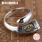 BALMORA 925 Sterling Silver Open Rings for Women Men Gift Virgin Mary Ring Sterling Silver Fashion <b>Jewelry</b> Anillos SY20593