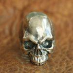 <b>Handmade</b> 925 Sterling Silver Skull Mens Biker Gothic Ring Punk <b>Jewelry</b> TA100D