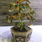 Bonsai Blossom Tree Trinket Box Source Money Tree Treasure Box with Coins & Gold Ingot Fengshui Fortune Bring Tree Statue Gift