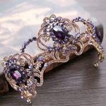 New Vintage Purple Crystal <b>Wedding</b> tiara Bride Crown Hair <b>Jewelry</b> Europe Style Queen Crown <b>Wedding</b> Hair Accessories