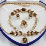 free shipping>>> Yellow Inlay Tiger's Eye Natural stone Necklace Bracelet <b>Earring</b> Ring No box (A0425)