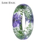 LIEBE ENGEL Transparent Resin Bracelet Bangle Dried Flower Red Leaf Love Bracelet Cuff For Women Best Gift Summer <b>Jewelry</b> 2017