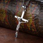 Purchase <b>Silver</b> 925 Sterling <b>Silver</b> Vintage <b>Silver</b> <b>Necklace</b> Pendant pendant the crucifixion of Christ Jesus male female