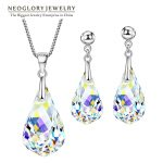 Neoglory <b>Jewelry</b> Sets MADE WITH SWAROVSKI ELEMENTS Crystal Transparent Necklaces & Earrings Wedding For Women 2018 New Gifts T1