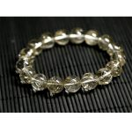 Wholesale Natural Genuine Clear <b>Silver</b> Needle Hair Rutile Quartz Finished Stretch <b>Bracelet</b> Round Beads Rutilated 12-18mm 02682