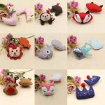 20PCs <b>Handmade</b> Toddler Children Hair <b>Jewelry</b> DIY Clips Decor Fabric Woven Crochet Animal Crown Heart Lion Deer Fox Patch Dolls