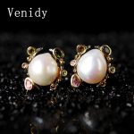 Venidy Pearl Jewelry, Natural Baroque Pearl <b>Earrings</b> Freshwater Pearls Sterling <b>Silver</b> Jewelry Bohemian Charms Stud <b>Earrings</b> New