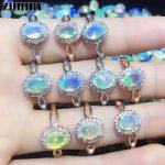 Natural fire Opal stone ring Genuine solid 925 <b>sterling</b> <b>silver</b> woman color gem rings <b>jewelry</b>
