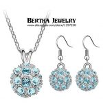 Hot Sell Shamballa Set Cystal <b>Jewelry</b> Sets Earrings Aretes <b>Necklaces</b> Pendants For Women Crystals from Swarovski Bijoux