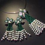 natural fresh water pearl pendant <b>earring</b> jewelry set flower tassels romantic fashion women jewelry 925 sterling <b>silver</b>