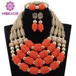 Christmas African Coral <b>Jewelry</b> Beads Set Luxury 4 Step Nigerian Wedding Bridal Statement <b>Jewelry</b> Set Women Gift Free ShipABL809