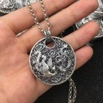 Solid Fine <b>Silver</b> 990 Dragon & Phoenix Medal Pendant For Necklace Women Traditional China Style Cool 990 <b>Sterling</b> <b>Silver</b> <b>Jewelry</b>